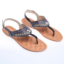 Load image into Gallery viewer, Bohemian  Flat  Peep Toe  Date Outdoor Flat Sandals
