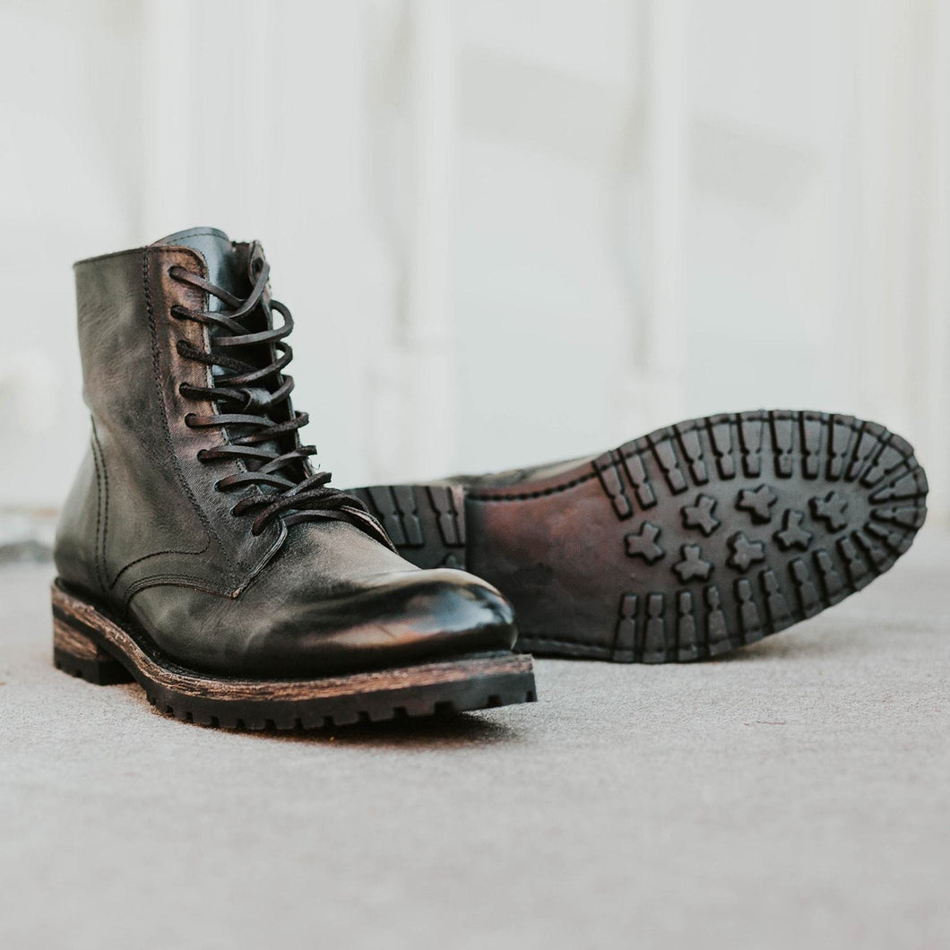 Men's Casual Leather Lace-Up Ankle Men Boots