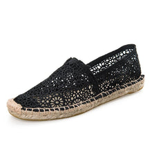 Load image into Gallery viewer, Women Loafers Hollow-out Lace Elegant Elastic Band Solid Embroidered Flats Shoes
