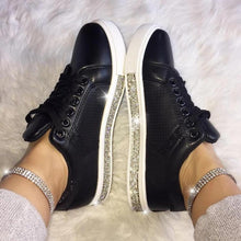 Load image into Gallery viewer, Women's Fashion Solid Color Rhinestone Decorative Round Head Casual Shoes