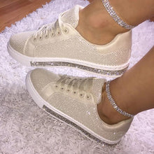 Load image into Gallery viewer, Women's Fashion Solid Color Rhinestone Decorative Mesh Breathable Casual Shoes