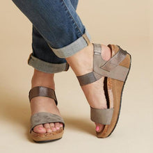 Load image into Gallery viewer, Large Size Women Summer Med Wedge Comfortable Platform Sandals