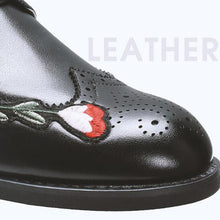 Load image into Gallery viewer, Embroidery Flowers Driving Oxfords Flat Shoes