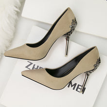 Load image into Gallery viewer, fashion pointed women shoes high heels wedding shoes