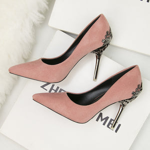 fashion pointed women shoes high heels wedding shoes