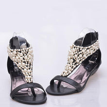 Load image into Gallery viewer, Women's Elegant Ethnic Style Wedge Sandals