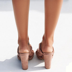 Fashion Thick With High Heel Large Size Sandals