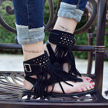 Load image into Gallery viewer, Tassel Decoration Flat Heel Women's Sandals