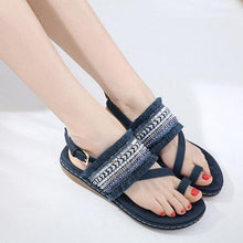 Load image into Gallery viewer, Women PU Sandals Casual Elastic Band Shoes