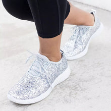 Load image into Gallery viewer, Women New Flat Bottom Sequins Casual Shoes Sneakers