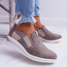 Load image into Gallery viewer, Athletic Elastic Band Slip-on Shoes Women's Wedge Sneakers
