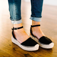 Load image into Gallery viewer, Classic Espadrille Sandals Platform Buckle Strap Sandals
