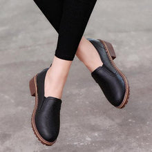 Load image into Gallery viewer, Low Heel PU Daily Slip On Loafers