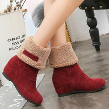 Load image into Gallery viewer, Women Snow Boots Warm Wedge Heel Boots