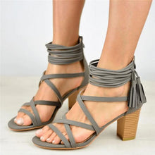 Load image into Gallery viewer, Plain Peep Toe Date Platform Sandals