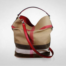 Load image into Gallery viewer, Women's Versatile Checked Large Capacity Canvas Bags