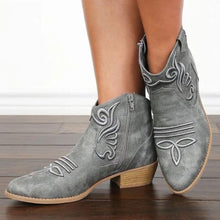 Load image into Gallery viewer, Chunky Low Heeled Round Toe Date Outdoor Short Ankle Boots
