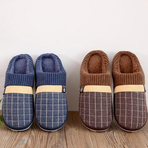 Men's Warm Short Plush Slippers