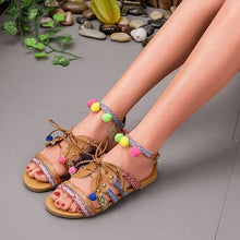 Load image into Gallery viewer, Summer Buckle Flat Bohemia Beach Sandals