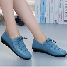 Load image into Gallery viewer, Women Comfy Sole Daily Flat Heel PU Loafer Shoes Slip-on