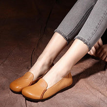 Load image into Gallery viewer, Handmade Sheep Leather Casual Flat Shoes For Women