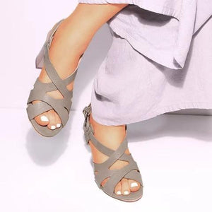Women Chunky Heel Pumps Casual Sandals