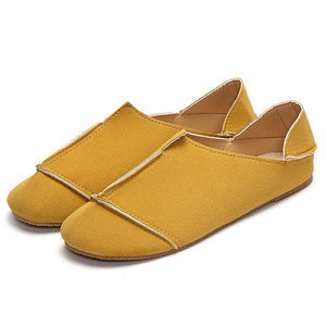 Stitching Candy Color Slip On Casual Lazy Shoes