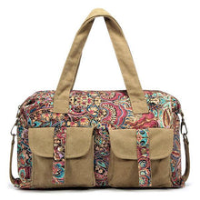 Load image into Gallery viewer, Vintage National Style Canvas Handbag Casual Crossbody Bag