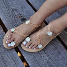 Load image into Gallery viewer, Women Flower Sandals Casual Slip On High Quality Shoes