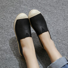 Load image into Gallery viewer, Large Size Women Glitter Loafers Summer Slip-on Flats Fisherman Shoes