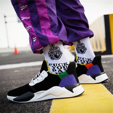 Load image into Gallery viewer, Men's ultra-fibre casual color matching sport sneakers