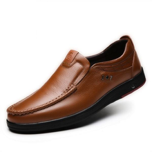 Load image into Gallery viewer, Men's Genuine Leather Large Size Flats Shoes Soft Anti-slip Driving Shoes