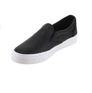 Large Size Women Comfort Slip-on Pinhole Loafers Non-slip Flats