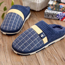 Load image into Gallery viewer, Men's Warm Short Plush Slippers