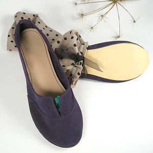 Women Nubuck Flats Casual Comfort Soft Shoes