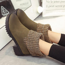 Load image into Gallery viewer, Women PU Booties Casual Comfort Slip On Shoes