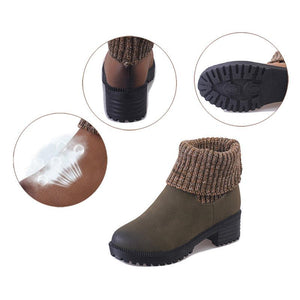 Women PU Booties Casual Comfort Slip On Shoes