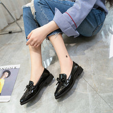Load image into Gallery viewer, Flat Shoes Women Casual Tassel Bow Pointed Toe Oxford Shoes for Woman Flats Slip on