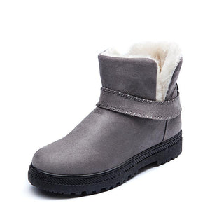 Women Fashion Suede Ankle Cotton Booties Snow Boots
