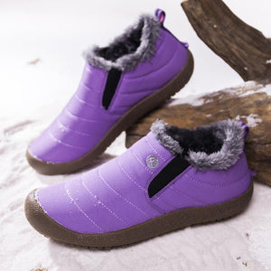 Women Large Size Unisex Waterproof Fur Lining Snow Boots
