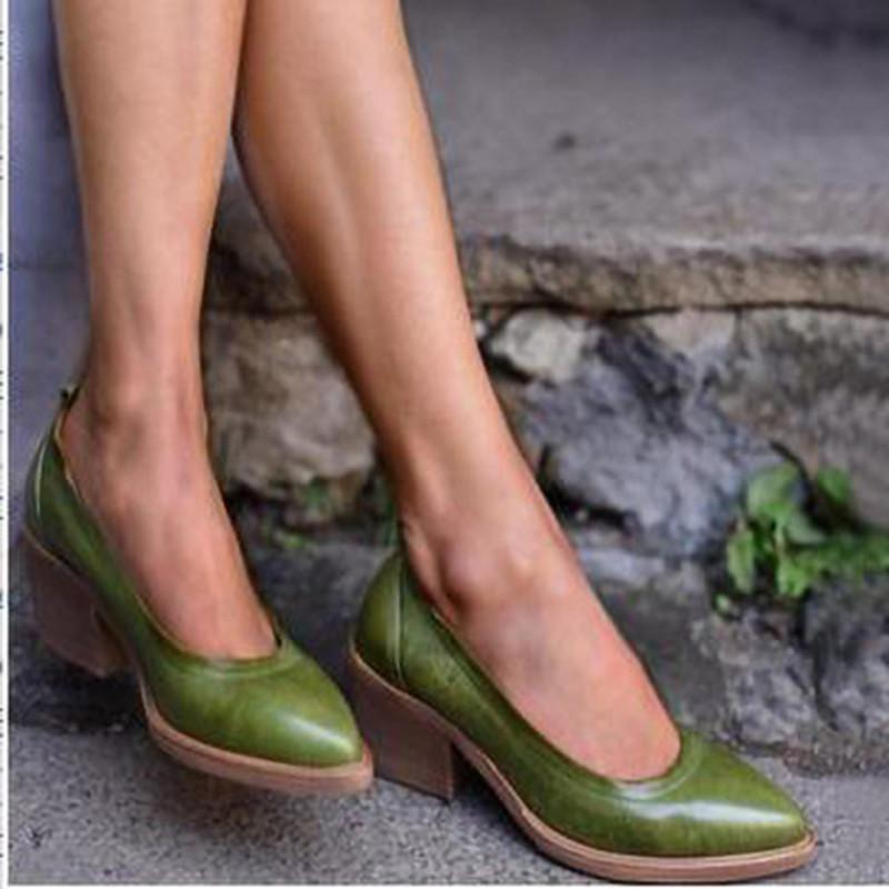GREEN HIGH HEEL DAILY PU SANDALS