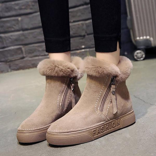 Women Snow Flat Comfortable Warm Non-Slip Boots