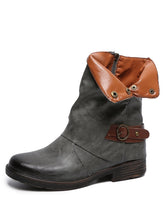 Load image into Gallery viewer, Women Round Toe Winter Low Heel Boots