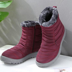 Women Casual Flat Heel Warm Closed Toe Boots