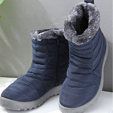 Load image into Gallery viewer, Women Casual Flat Heel Warm Closed Toe Boots