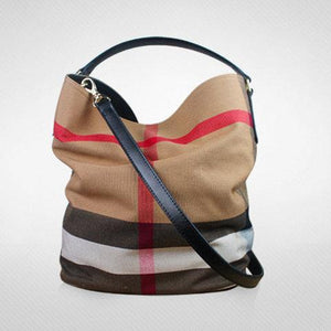 Women's Versatile Checked Large Capacity Canvas Bags