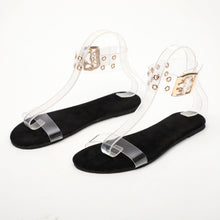 Load image into Gallery viewer, Women's Cotton Open Toe Adjustable Buckle Flat Sandals