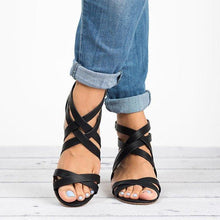 Load image into Gallery viewer, Women's Microfiber Peep Toe Adjustable Buckle Middle Chunky Heel Sandals