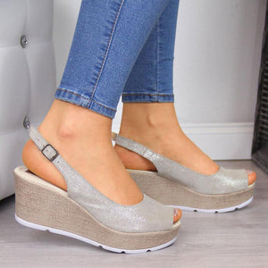 Women'S Wedge Heel Casual Open Toe Summer Sandals