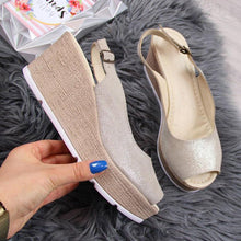 Load image into Gallery viewer, Women'S Wedge Heel Casual Open Toe Summer Sandals